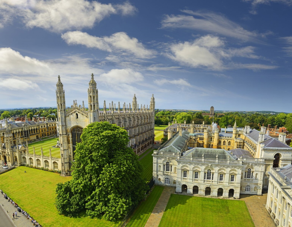 Aerial View of King's College Cambridge University