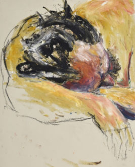 Life Drawing sketch of man sleeping