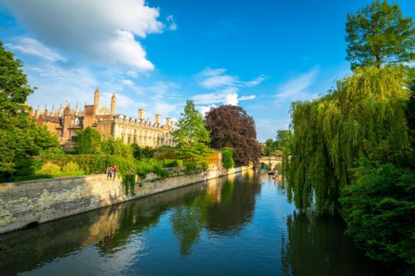 River Cam From Magdalene Bridge Cambridge